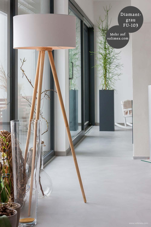Mikrozement fugenlose Futado Wand und Bodenbeschichtung im Wohnzimmer - Diamantgrau FU-103