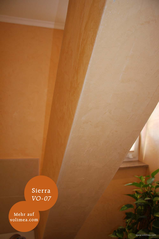 Mikrozement fugenlose Volimea Wandbeschichtung im Badezimmer - Sierra VO-07